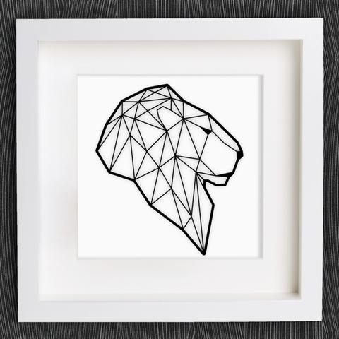 Descargar modelo 3D gratis Cabeza de león de Origami personalizable, MightyNozzle