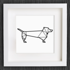 Free 3d print files Customizable Origami Sausage Dog / Dachshund, MightyNozzle