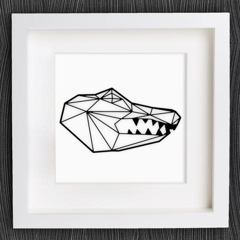 Descargar archivos 3D gratis Cabeza de cocodrilo de Origami personalizable, MightyNozzle