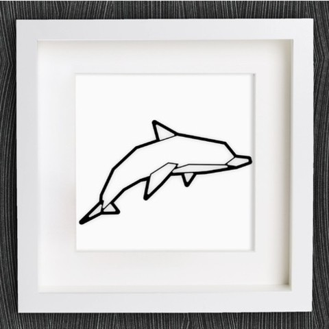Free Customizable Origami Dolphin 3D model, MightyNozzle