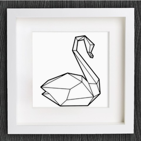 Free 3d Model Customizable Origami Swan No 2 Cults