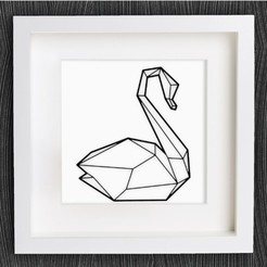 Free 3D printer file Customizable Origami Swan No. 2, MightyNozzle
