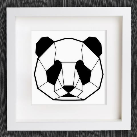 Free 3d Model Customizable Origami Panda Head MightyNozzle