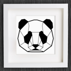 Free 3d model Customizable Origami Panda Head, MightyNozzle