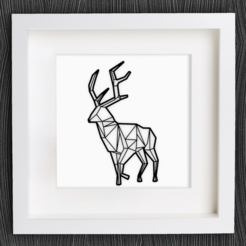 Free 3d printer designs Customizable Origami Deer No. 2, MightyNozzle