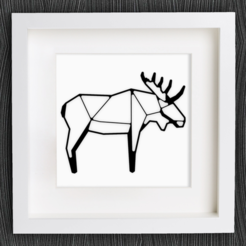 Free stl file Customizable Origami Moose, MightyNozzle