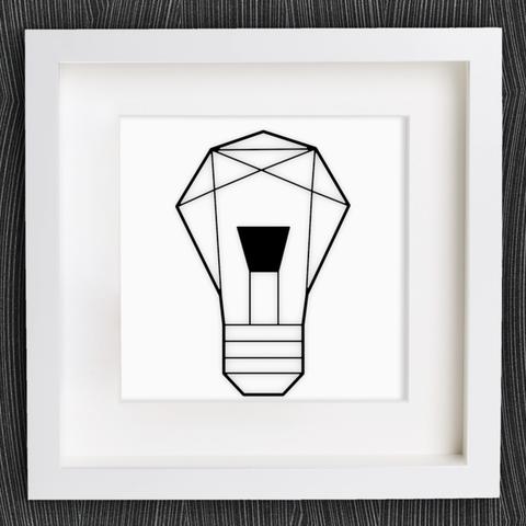 Free 3D printer designs Customizable Origami Light Bulb, MightyNozzle