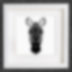 Download free 3D printer files Customizable Origami Zebra Head, MightyNozzle