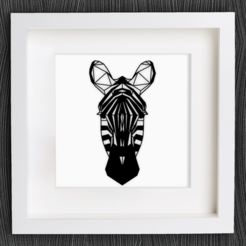 Free 3D model Customizable Origami Zebra Head, MightyNozzle