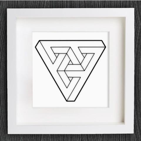 Descargar archivos 3D gratis Triángulo de ilusión óptica personalizable, MightyNozzle
