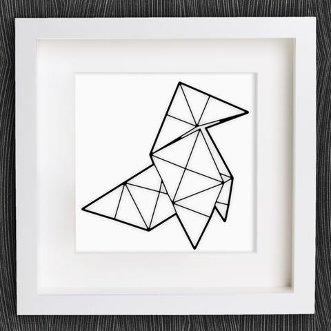 Free Customizable Origami Heavy Rain - The Bird (Video Game) 3D model, MightyNozzle