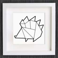 Free STL file Customizable Origami Hedgehog, MightyNozzle