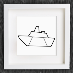 Download free 3D printer model Customizable Origami Steamboat, MightyNozzle