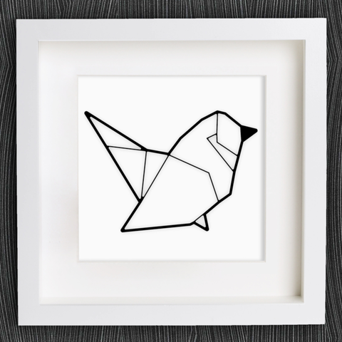 Free stl files Customizable Origami Bird, MightyNozzle