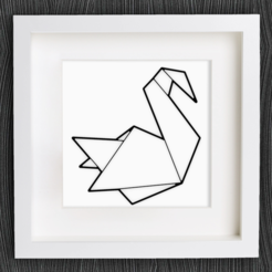 Free stl files Customizable Origami Swan, MightyNozzle