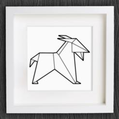 Descargar diseños 3D gratis Cabra de Origami personalizable, MightyNozzle