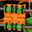 Free STL file Remix of Anet A8 Jan 2017 model Prusa X carriage remix, MightyNozzle