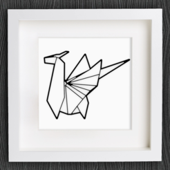 Download free 3D printing designs Customizable Origami Dragon, MightyNozzle