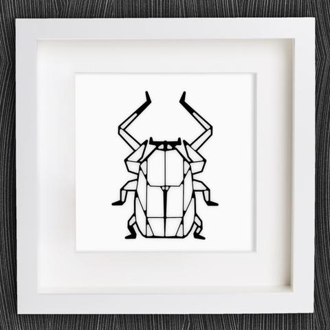 Impresiones 3D gratis Escarabajo de Origami personalizable, MightyNozzle