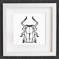 Free 3D print files Customizable Origami Scarab, MightyNozzle