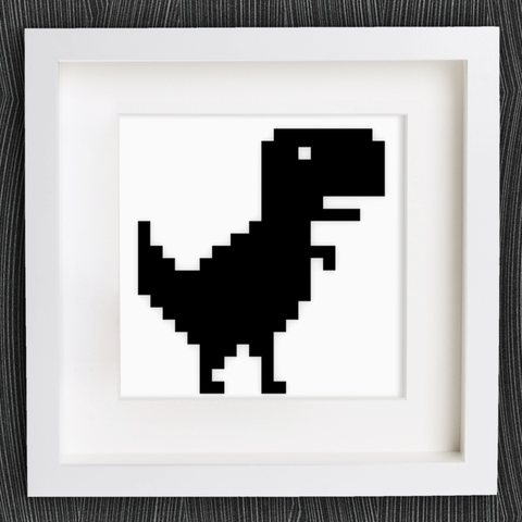 Free STL files Customizable Chrome Offline T-Rex, MightyNozzle