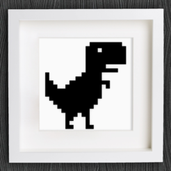 Free Customizable Chrome Offline T-Rex STL file, MightyNozzle