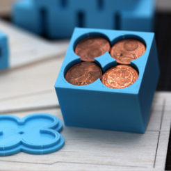 Free 3d print files Customizable Penny Weight / Coin Compartment, MightyNozzle