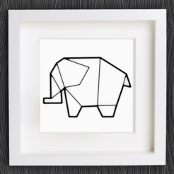 Free 3d model Customizable Origami Elephant No. 2, MightyNozzle
