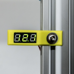 Impresiones 3D gratis 2020 Montaje lateral para 0,8 pulgadas Mini Voltímetro Digital Medidor de Voltaje, MightyNozzle