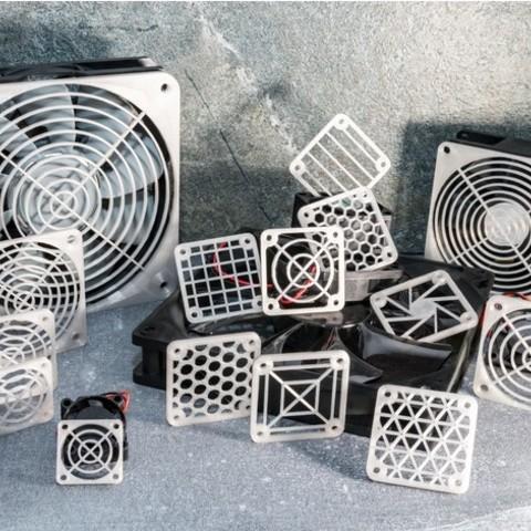 stl Cubierta adaptable de la parrilla del ventilador gratis, MightyNozzle