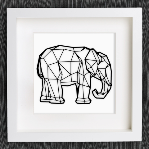 Free stl files Customizable Origami Elephant, MightyNozzle