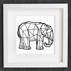 Download free STL files Customizable Origami Elephant, MightyNozzle