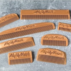 Free STL files Customizable Comb, MightyNozzle