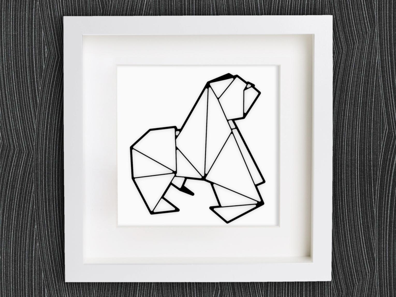 Capture d'écran 2018-01-29 à 14.47.17.png Download free STL file Customizable Origami Gorilla • 3D printer object, MightyNozzle
