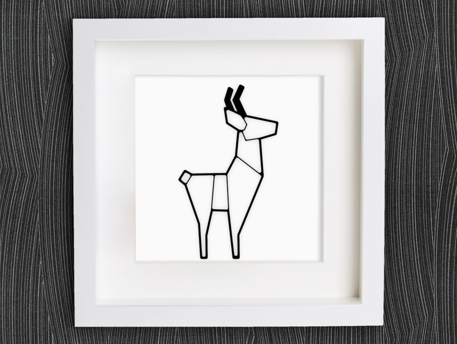Capture d'écran 2017-11-27 à 10.33.10.png Download free STL file Customizable Origami Deer • 3D printer design, MightyNozzle