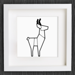 Download free 3D printer files Customizable Origami Deer, MightyNozzle