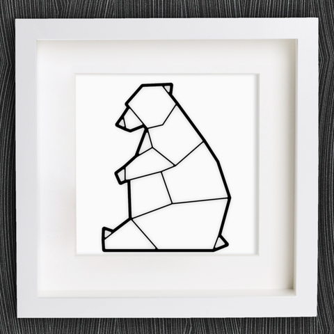 Free 3d Printer Files Customizable Origami Polar Bear Ice MightyNozzle