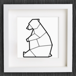 Free 3d printer files Customizable Origami Polar Bear / Ice Bear, MightyNozzle