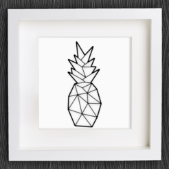 Free 3D model Customizable Origami Pineapple, MightyNozzle