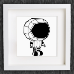 Free stl Customizable Little Astronaut, MightyNozzle