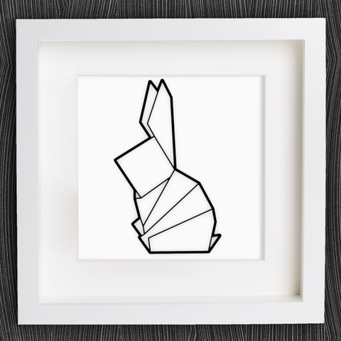 Download free 3D printer files Customizable Origami Sitting Bunny, MightyNozzle