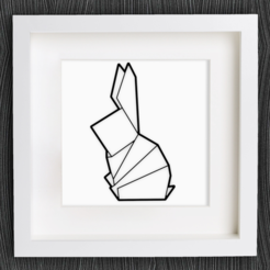 Free 3d model Customizable Origami Sitting Bunny, MightyNozzle