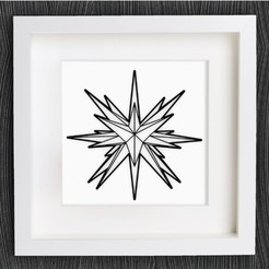 Free stl Customizable Origami Moravian Star, MightyNozzle