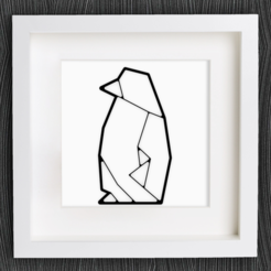 Download free 3D printing templates Customizable Origami Penguin, MightyNozzle
