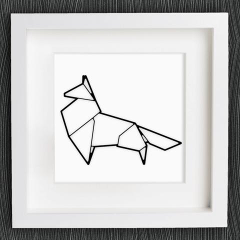 Free 3d Printer Designs Customizable Origami Fox MightyNozzle
