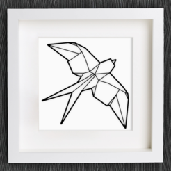Free STL files Customizable Origami Swallow, MightyNozzle
