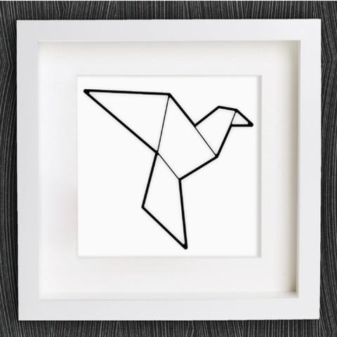 297361358e263000725f82d7da6317f7_preview_featured.jpg Download free STL file Customizable Origami Dove / Pigeon • 3D printer model, MightyNozzle