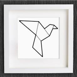 diseños 3d gratis Paloma / Paloma de Origami personalizable, MightyNozzle