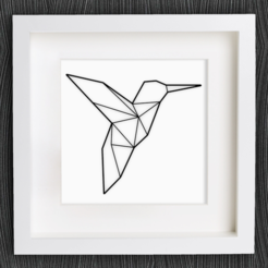 Download free 3D print files Customizable Origami Hummingbird, MightyNozzle
