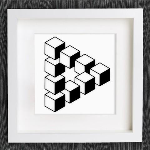 Descargar Modelos 3D para imprimir gratis Triángulo de Penrose personalizable, MightyNozzle